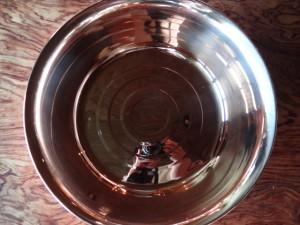 銅洗い桶32cm真上